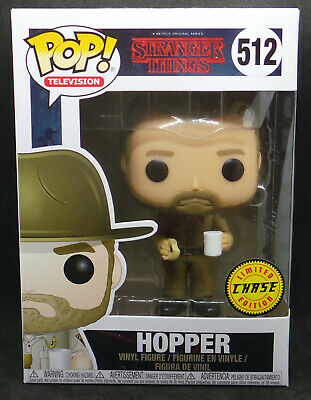 Funko Pop 2017 Stranger Things Hopper #512 Chase Edition With Pop Protector