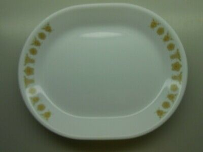 """Corelle Butterfly Gold 12"""" Oval Platter - Excellent Vintage Condition"""