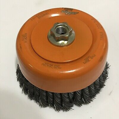 "Clipper 6"" knotted wire cup brush-  brand new"