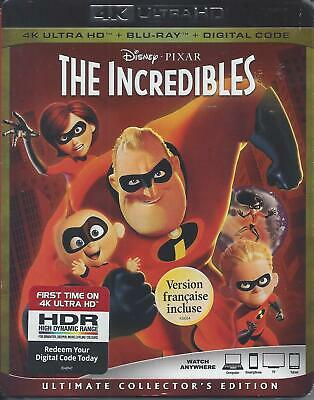 The Incredibles (4K Ultra Hd/Bluray)(3 Disc Set)(Used)
