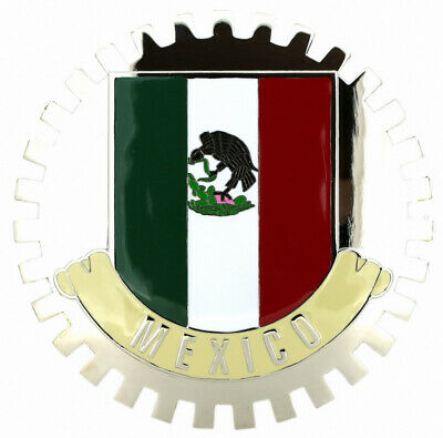 Grille Badge Sinaloa Mexico cres for car truck grill mount  flag emblem chrome