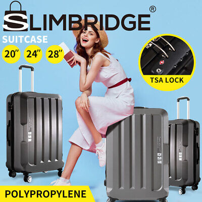 Luggage TSA Hard Case Sets Suitcase Travel 3pc Lightweight Trolley Carry Bag DG