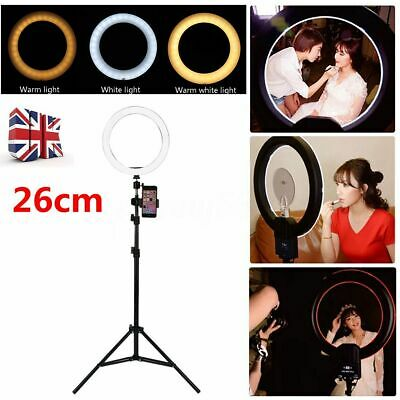 10'' Studio LED Ring Light with Stand Dimmable Photo Video Lamp For Phone Camera