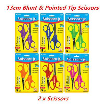 School Scissors Kids 13cm Blunt Pointed Tip Art Craft Children Stainless Steel