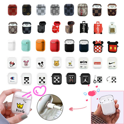 Shockproof For Apple Airpods case Cover Skin Anti Lost Strap Holder Airpod AU
