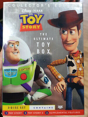 TOY STORY - The Ultimate Toy Box - 3 Disc Set DVD - NEW & SEALED Region 1