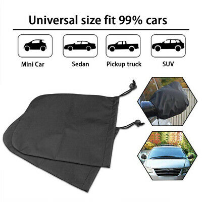 2pcs Car Side Mirror Protective Cover Anti Frost Cover for Auto Rear View Hood Q