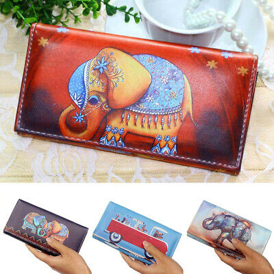 Women Bifold Wallet Leather Clutch Card Holder Purse Lady Long Handbag Fashion