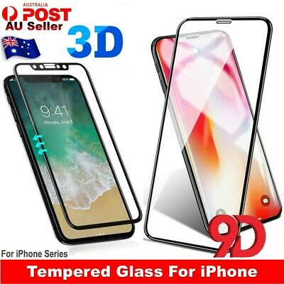 For Apple iPhone XS Max XR X 9D 3D Tempered Glass Full Coverage Screen Protector
