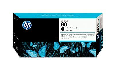 New  Hp 80 Black Designjet Printhead And Printhead Cleaner C4820A
