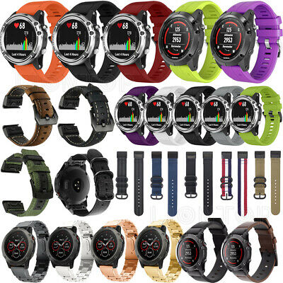 Easy Fit Stainless Steel Silicone Wrist Band Strap For Garmin Fenix 6 6S 6X Pro