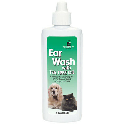 Professional Pet Products Ear Wash with Tea Tree Oil for Dogs & Cats, 118ml