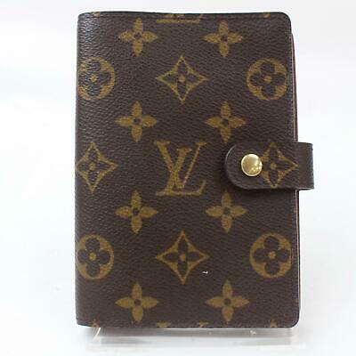Authentic Louis Vuitton Diary Cover Agenda PM Browns Monogram 805648