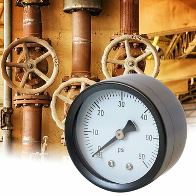 Y50 Air Pressure Meter High Accuracy Fuel Air Oil Water Pressure Gauge 0-60psi