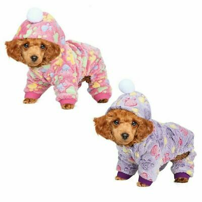 Pets Dog Jumpsuit Pajamas Hoodie Puppy Cat Jumper Warm Clothes Outfit Costume