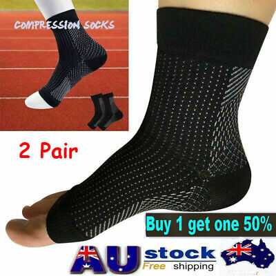 2x Compression Sleeve Arthritis Sore Foot Angel Socks For Achy Heel Pain relief