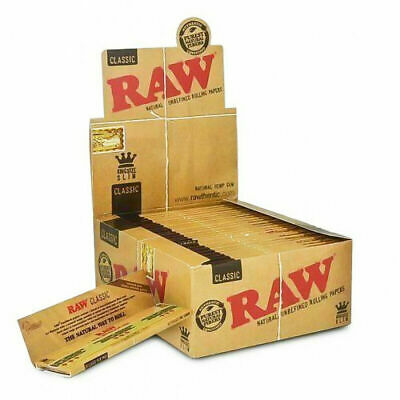 50 Packs Raw Natural Organic King Size Rolling Papers Box Filter With Tips