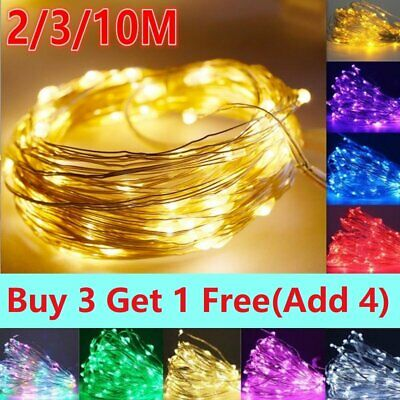 LED String Fairy Lights Christmas Decoration Battery Powered Operated Bedroom