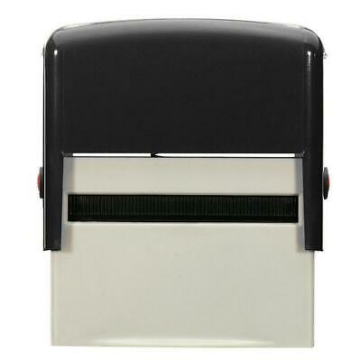 Personalised DIY Self Inking Rubber Stamp Kit Customised Business Name Etc EH