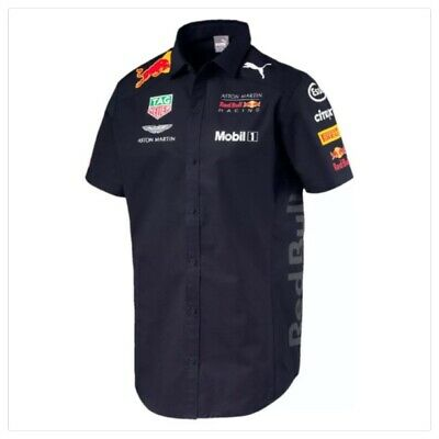 2018 Red Bull Racing Formula One Men's Team Shirt Navy Official Puma F1 Range