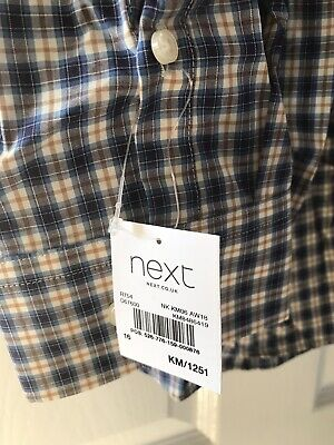 Next Mens Long Sleeve Shirt 16 ' Brand New With Tags Ideal Christmas Gift