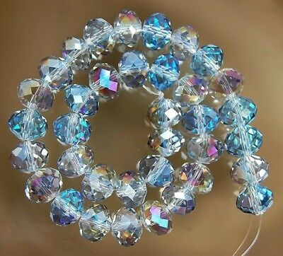 70  PCS , 6X8 mm Multicolor Crystal Faceted Crystal Gemstone Abacus Loose Beads