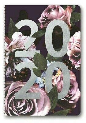 2020 Floral Expressions On Time Weekly Planner Diary A5 Week to View Spiral