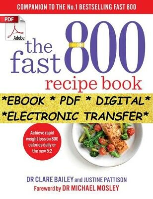 The Fast 800 - Recipe Book. Instant Delivery. Read below.