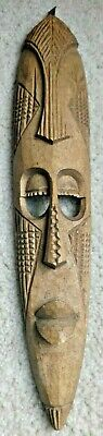 African Tribal Wooden Mask ~ Hand Carved ~ Made in Kenya ~ New