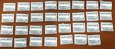 McDonald's Monopoly 2019 - 31 chance card tokens - Not used
