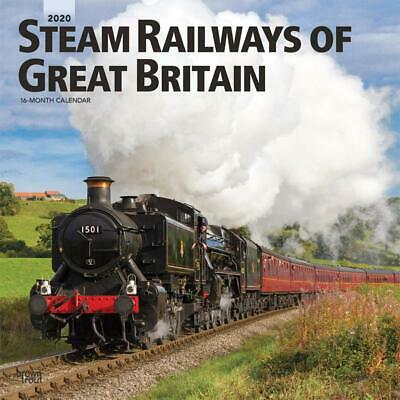Steam Railways of Great Britain 2020 - 16 Month Square Wall Calendar