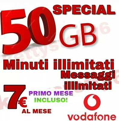 COUPON Passa a Vodafone  MIN. ILLIM. 50 Gb 6.99€ CON CORRIERE GRATIS