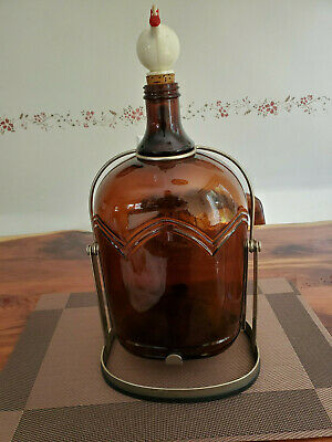 Gallon Jug Liquor Bottle Christian Brothers California Amber Glass Brandy