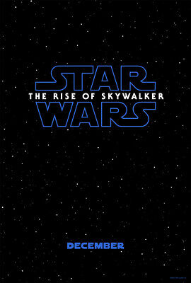 STAR WARS THE RISE OF SKYWALKER MOVIE POSTER 2 Sided ORIGINAL Advance EXL 27x40