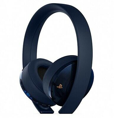 New SONY PlayStation Gold Wireless 7.1 Headset 500 Million Limited Edition PS4