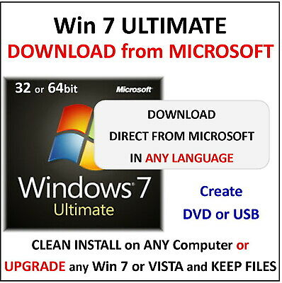 Win 7 ULTIMATE - 32/64bit - Download from Microsoft - ALL LANGUAGES
