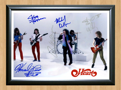 Heart Band Ann Nancy Wilson Signed Autographed A4 Photo Poster Memorabilia shirt