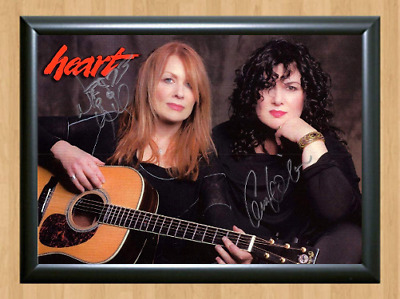 Heart Band Ann Nancy Wilson Signed Autographed A4 Photo Memorabilia concert dvd
