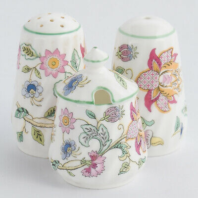 Minton Haddon Hall Cruet Salt Pepper Mustard Pot Made in England 1st Quality