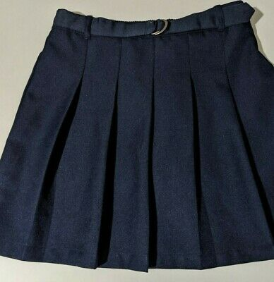 Girls Navy Blue Skort School Uniform Size 10 1/2
