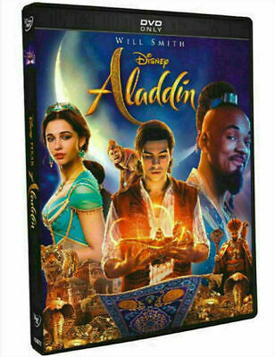 Will Smith - Aladdin (DVD 2019 1-Disc) Live Action - Ships FAST!!!
