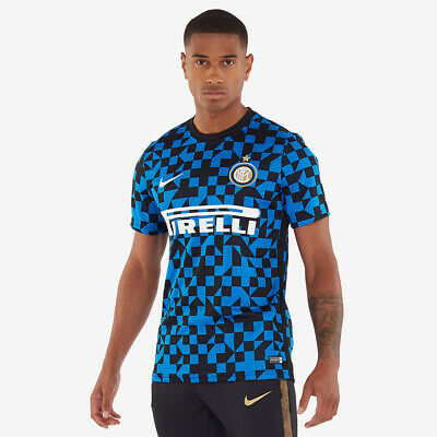 Nike Inter Milan 2019/20 Dry SS Top - Blue Spark/Blue Spark UK S (AP799)