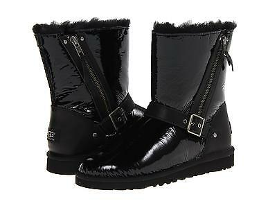 Ugg Australia Youth Kids Girls Blaise Patent Black Boots Size 4 Y New
