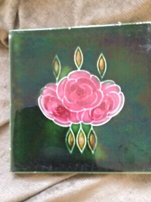 Beautiful Art Nouveau Antique Tile
