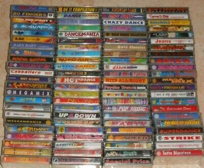 Lotto 90 Musicassette Eurodance Trance Techno Progressive House Disco Anni 90