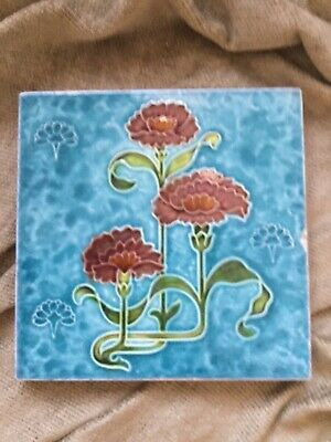 Beautiful Art Nouveau Antique Tile Malkin Tile Works