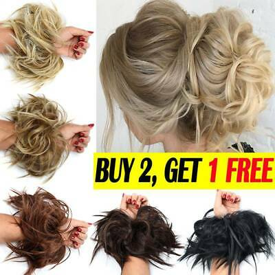 Large Thick Messy Bun Hair Piece Scrunchie Updo style Extension Weddinghair UK