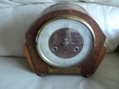 Antique /Vintage Perivale Movement Chimes Mantle Clock.not Working