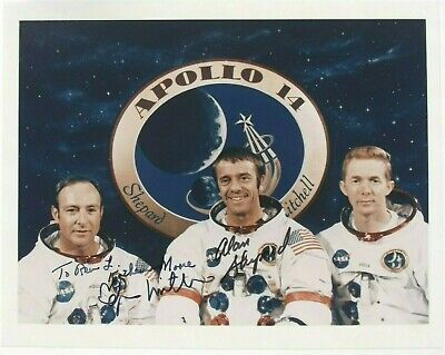 Apollo 14 Moonwalkers Signed WSS Photo Shepard & Mitchell Authenticated Zarelli