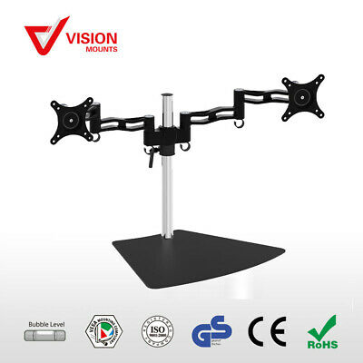 Dual Adjustable 2-Arm Monitor Stand Vision Mounts VM-D08S